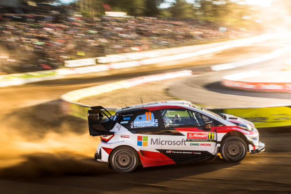 Juho Hanninen (FIN) / Kaj Lindstrom (FIN), Toyota Gazoo Racing Toyota Yaris WRC at World Rally Championship, Rd6, Rally Portugal, Day One, Matosinhos, Portugal, 19 May 2017.