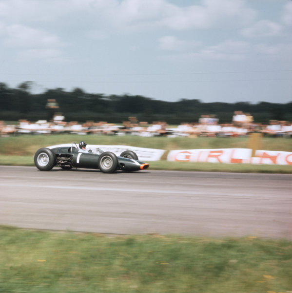 Silverstone, England.18-20 July 1963.Graham Hill (BRM P57) 3rd position.Ref-3/1004.World Copyright - LAT Photographic