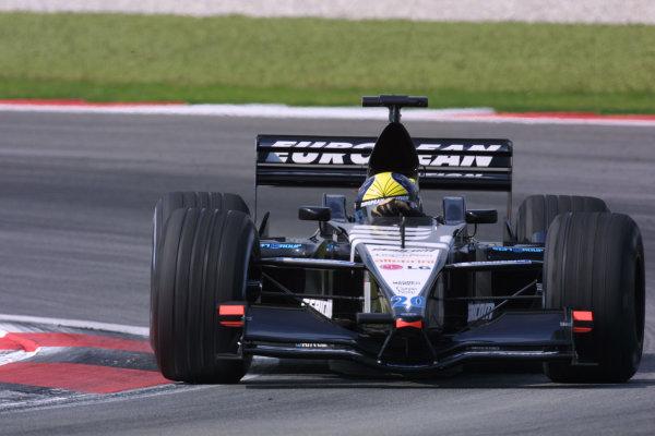 2001 Malaysian Grand Prix.Sepang, Kuala Lumpur, Malaysia. 16-18 March 2001.Tarso Marques (Minardi PS01 European).World Copyright - LAT Photographicref: 8 9MB DIGITAL IMAGE