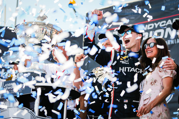 Josef Newgarden, Team Penske Chevrolet celebrates winning the NTT IndyCar Series Championship