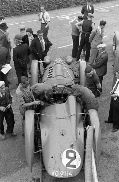 The car of Gianfranco Comotti / Albert Divo, Ecurie Bleue, Delahaye 145.