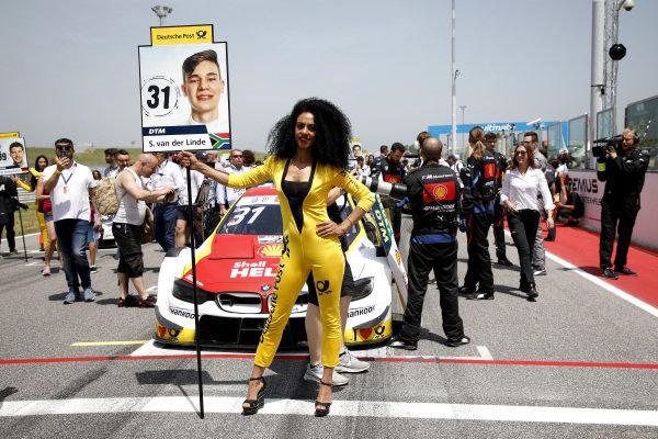 Grid girl of Shelton van der Linde, BMW Team RBM.