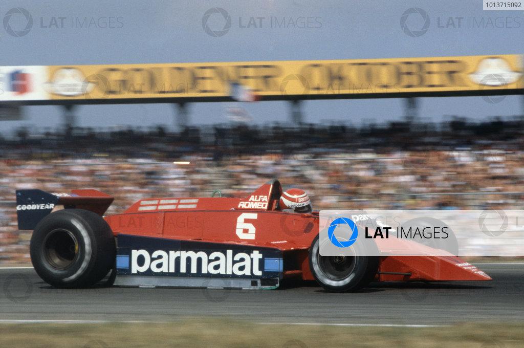 Hockenheim, Germany. 27-29 July 1979. Nelson Piquet, Brabham BT48 Alfa Romeo. Ref: 79GER20. World Copyright: LAT Photographic