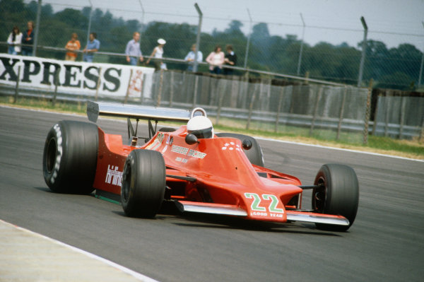 Silverstone, England. 12 - 14 July 1979. Patrick Gaillard, Ensign N179 Ford, 13th position. Ref: 79GB20. World Copyright: LAT Photographic