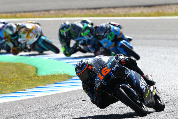 2017 Moto3 Championship - Round 4 Jerez, Spain Sunday 7 May 2017 Andrea Migno, Sky Racing Team VR46 World Copyright: Gold & Goose Photography/LAT Images ref: Digital Image 16242