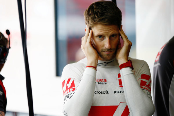 Circuit de Catalunya, Barcelona, Spain. Saturday 13 May 2017. Romain Grosjean, Haas F1. World Copyright: Andy Hone/LAT Images ref: Digital Image _ONZ4797