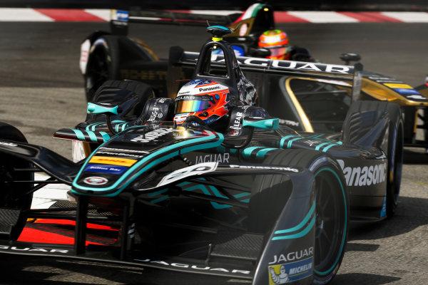 2016/2017 FIA Formula E Championship. Monte-Carlo, Monaco Saturday 13 May 2017. Mitch Evans (NZL), Jaguar Racing, Spark-Jaguar, Jaguar I-Type 1. Photo: Malcolm Griffiths/LAT/Formula E ref: Digital Image MALC1962