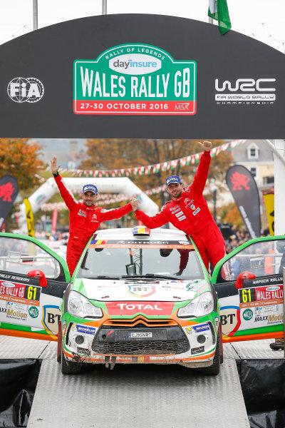2016 FIA World Rally Championship, Round 13, Wales Rally GB 2016 October 27 - 30, 2016 Simone Tempestini, DS, WRC-3 world champion  Worldwide Copyright: McKlein/LAT