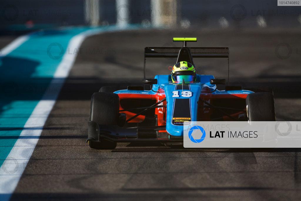 2016 GP3 Series Test 5. Yas Marina Circuit, Abu Dhabi, United Arab Emirates. Wednesday 30 November 2016. Alessio Lorandi (ITA, Jenzer Motorsport)  Photo: Sam Bloxham/GP3 Series Media Service. ref: Digital Image _SLA1422