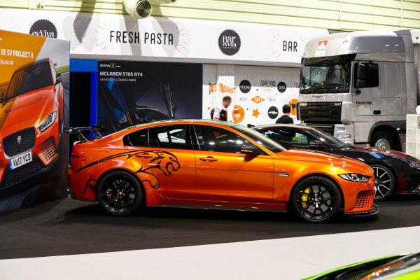 Autosport International Exhibition. National Exhibition Centre, Birmingham, UK. Thursday 11th January 2017. The Jaguar XE SV Project 8.World Copyright: Glenn Dunbar/LAT Images Ref: _X4I4071