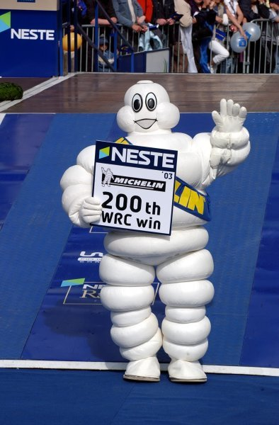 The Neste Rally Finland was Michelin's 200th rally win.FIA World Rally Championship, Rd9, Neste Rally Finland, Jyvaskyla, Finland, Day 3, 10 August 2003.DIGITAL IMAGE