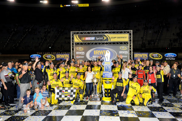 23-24 August, 2013, Bristol, Tennessee USA Matt Kenseth, Dollar General Toyota Camry celebrates his win in Victory Lane ©2013, Nigel Kinrade LAT Photo USA