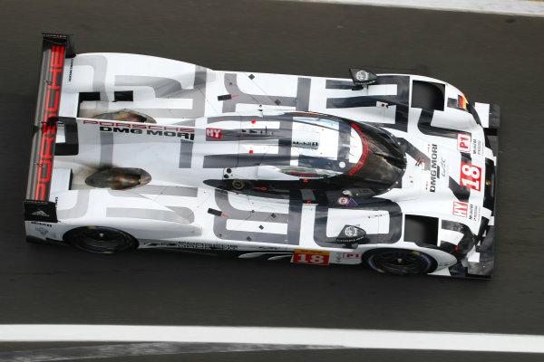 2015 FIA World Endurance Championship, Nurburgring, Germany. 28th - 30th August 2015. Romain Dumas / Neel Jani / Marc Lieb Porsche Team Porsche 919 Hybrid. World Copyright: Ebrey / LAT Photographic.