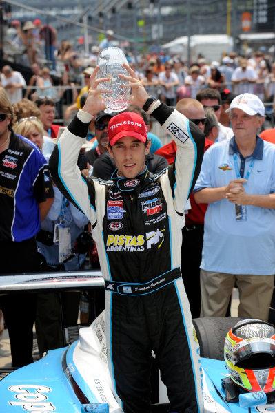 24-25 May, 2012, Indianapolis, Indiana, USAIndy Lights winner Estaban Guerrieri (#11) in Victory Lane.(c)2012, F. Peirce WilliamsLAT Photo USA