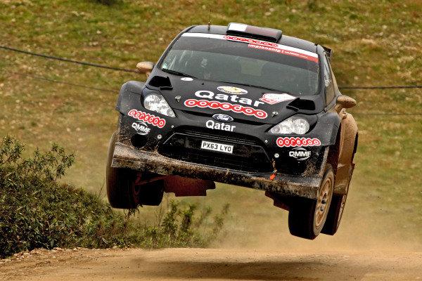 Nasser Al-Attiyah (QTR) and Giovanni Bernacchini (ITA), Ford Fiesta RS WRC. FIA World Rally Championship, Rd4, Rally de Portugal, Day One, Algarve Portugal, 4 April 2014.