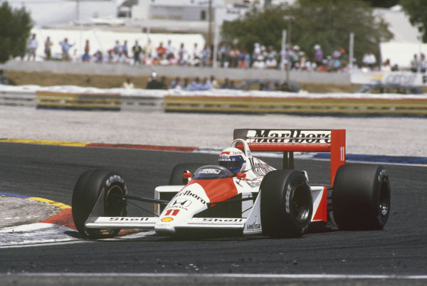 Paul Ricard, Le Castellet, France. 1st - 3rd July 1988. Alain Prost (McLaren MP4/4-Honda), 1st position, action.  World Copyright: LAT Photographic. Ref: 88FRA 37