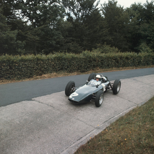 Nurburgring, Germany.3-5 August 1962.Richie Ginther (BRM P57) 8th position.Ref-3/0619.World Copyright - LAT Photographic