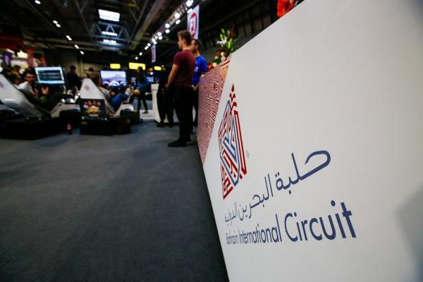 Autosport International Exhibition. National Exhibition Centre, Birmingham, UK. Saturday 13th January, 2018. The Bahrain International Circuit stand.World Copyright: Joe Portlock/LAT Images Ref: _L5R0107