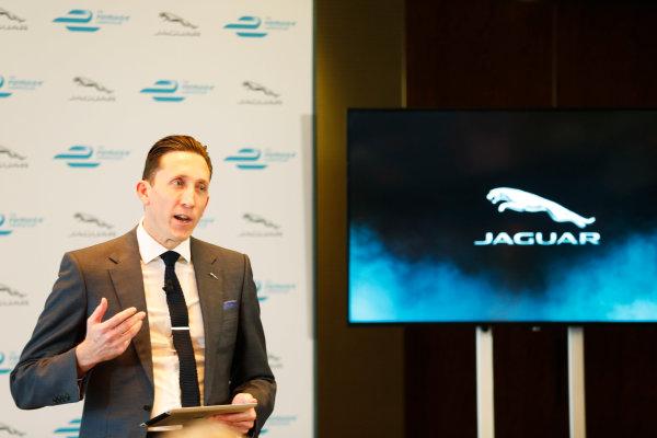 Jaguar Formula E Announcement London, UK Tuesday 15 December 2015 Jaguar Formula E Team Director James Barclay. World Copyright: Steven Tee/LAT Photographic ref: Digital Image _X0W7213