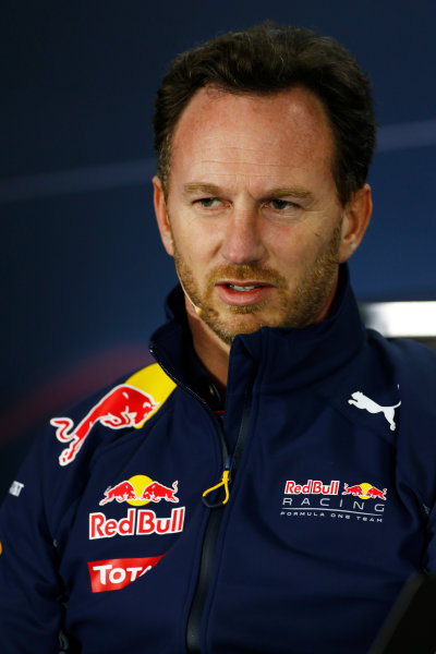 Albert Park, Melbourne, Australia. Friday 18 March 2016. Christian Horner, Team Principal, Red Bull Racing, in the Team Principals Press Conference. World Copyright: Andrew Hone/LAT Photographic ref: Digital Image _ONZ2109