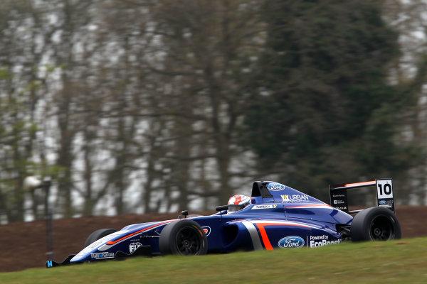 2016 MSA Formula Donington Park, 16th-17th April 2016, Petru Florescu (ROM) Carlin MSA Formula  World copyright. Jakob Ebrey/LAT Photographic