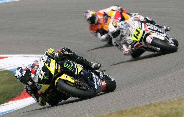 Holland Assen 24-26 JuneBen Spies Monster Yamaha Tech 3 leads Randy de Puniet and Andrea Dovizioso