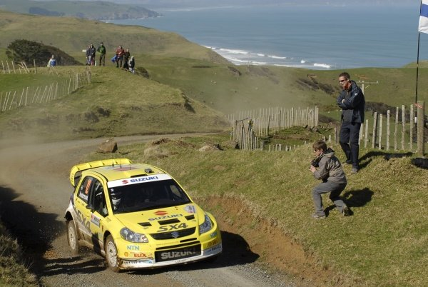 Per-Gunnar Andersson (SWE), Suzuki SX4 WRC, on stage 13.FIA World Rally Championship, Rd11, Repco Rally New Zealand, Day Three, Sunday 31 August 2008.