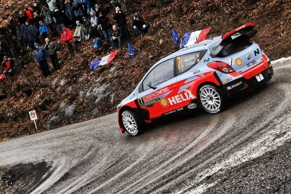www.sutton-images.com -  Thierry Neuville (BEL) / Nicolas Gilsoul (BEL) Hyundai i20 WRC at the FIA World Rally Championship, Rd1, Rally Monte Carlo, Preparatons and Shakedown, Monte Carlo, 22 January 2015. Photo Sutton Images