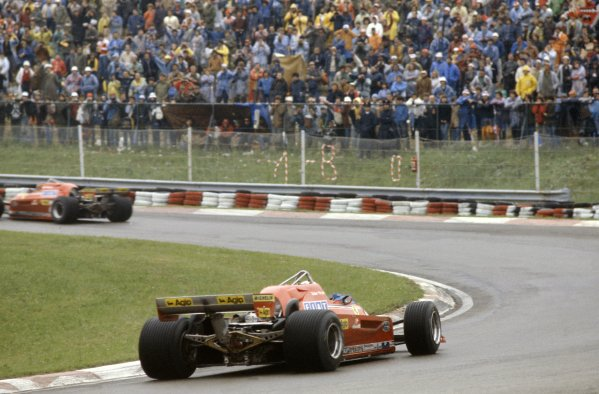 1981 San Marino Grand Prix.Imola, Italy. 1-3 May 1981.Gilles Villeneuve leads Didier Pironi (both Ferrari 126C). They finished in 7th and 5th positions respectively.World Copyright: LAT PhotographicRef: 35mm transparency 81SM01