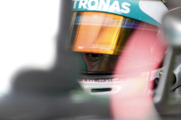 Circuit Gilles Villeneuve, Montreal, Canada. Friday 6 June 2014. Lewis Hamilton, Mercedes AMG. World Copyright: Alastair Staley/LAT Photographic. ref: Digital Image _R6T5337