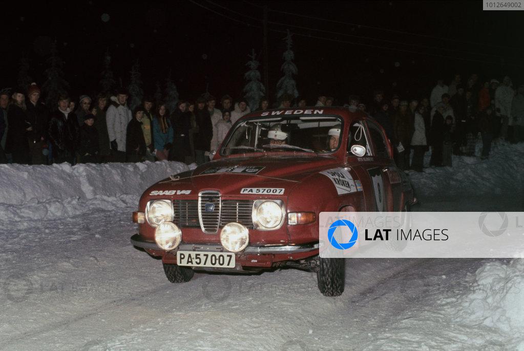 Karlstad, Sweden. 17th - 20th February 1972.Stig Blomqvist / Arne Hertz (Saab 96 V4), 1st position, action.World Copyright: LAT Photographic.Ref:  Colour Transparency.