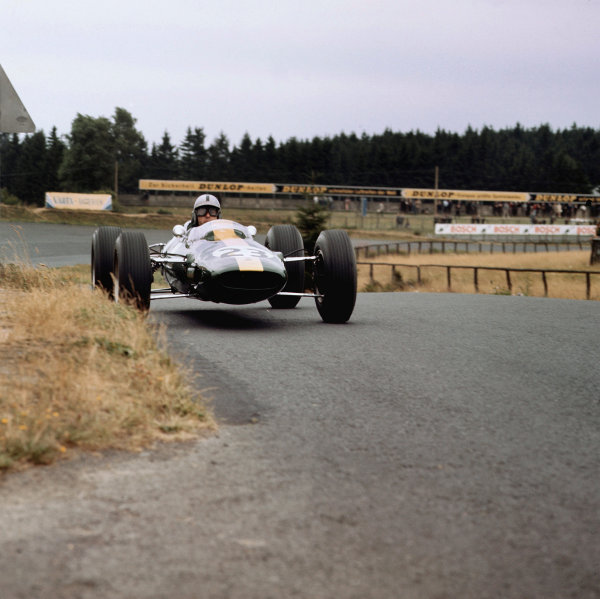 Nurburgring, Germany.31/7-2/8 1964.Gerhard Mitter (Lotus 25 Climax) 9th position.Ref-3/1379.World Copyright - LAT Photographic