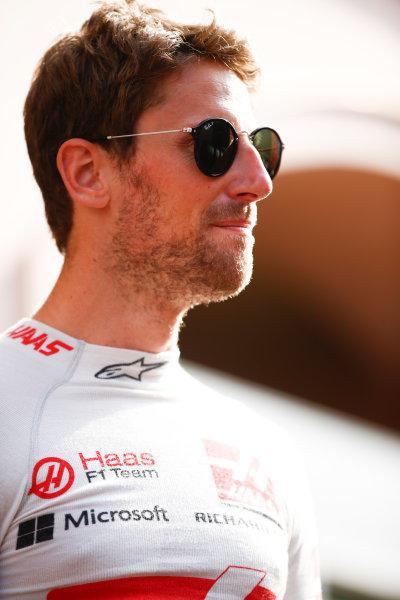 Monte Carlo, Monaco. Thursday 25 May 2017. Romain Grosjean, Haas F1. World Copyright: Andy Hone/LAT Images ref: Digital Image _ONZ9648