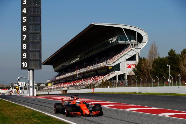 Circuit de Barcelona Catalunya, Barcelona, Spain. Friday 10 March 2017. Fernando Alonso, McLaren MCL32 Honda.  World Copyright: Sam Bloxham/LAT Images ref: Digital Image _SLB0815