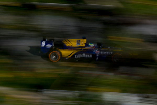 Circuit de Barcelona Catalunya, Barcelona, Spain. Monday 13 March 2017. Oliver Rowland (GBR, DAMS). Action.  Photo: Alastair Staley/FIA Formula 2 ref: Digital Image 580A0312
