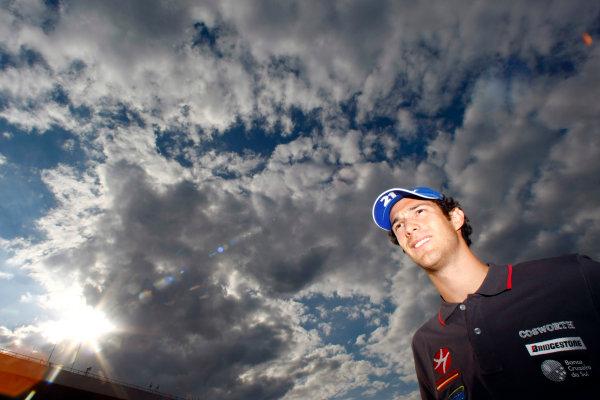 Hockenheimring, Hockenheim, Germany24th July 2010Bruno Senna, HRT F1 F110-02. Portrait. World Copyright: Charles Coates/LAT Photographicref: Digital Image _26Y4122