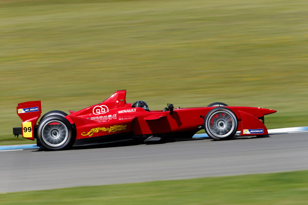 FIA Formula E Test Day, Donington Park, UK.  9th - 10th July 2014.  Jerome d'Ambrosio, China Racing. Photo: Glenn Dunbar/FIA Formula E ref: Digital Image _89P3605