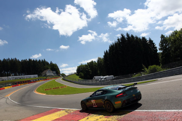 2016 British GT Championship, Spa-Francorchamps, Belgium. 8th - 9th July 2016. David Tinn / Andrew Jarman Stratton Motorsport Aston Martin Vantage GT4  World Copyright: Ebrey / LAT Photographic.