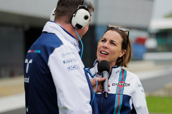 Williams 40 Event Silverstone, Northants, UK Friday 2 June 2017. Claire Williams talks to David Croft. World Copyright: Zak Mauger/LAT Images ref: Digital Image _54I1933