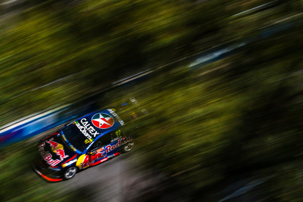 2016 Supercars Championship Round 14.  Sydney 500, Homebush Street Circuit, New South Wales, Australia. Friday 2nd December to Sunday 4th December 2016. Shane Van Gisbergen drives the #97 Red Bull Racing Australia Holden Commodore VF. World Copyright: Daniel Kalisz/LAT Photographic Ref: Digital Image 021216_VASCR14_DKIMG_0842.JPG