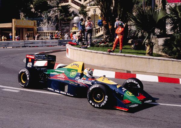 1989 Monaco Grand Prix.Monte Carlo, Monaco.4-7 May 1989.Philippe Alliot (Larrousse/Lola LC89 Lamborghini).Ref-89 MON 20.World Copyright - LAT Photographic