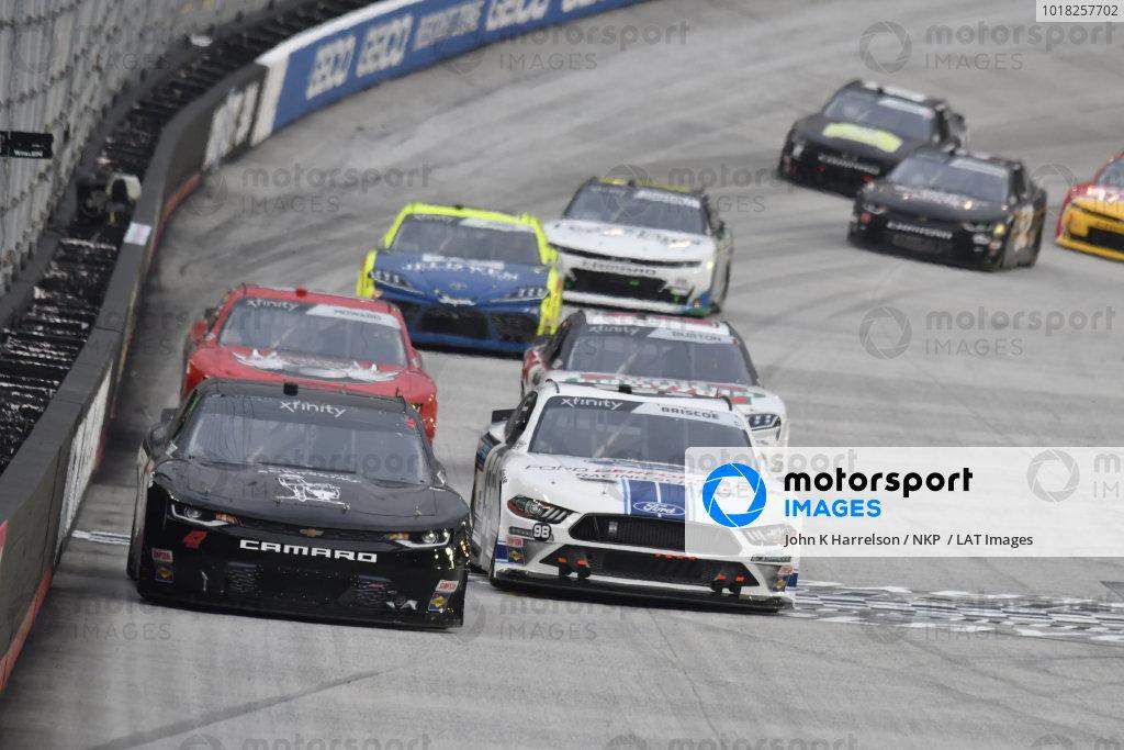 #47: Kyle Weatherman, Mike Harmon Racing, Chevrolet Camaro Honor And Sacrifice, #98: Chase Briscoe, Stewart-Haas Racing, Ford Mustang Ford Performance Racing School
