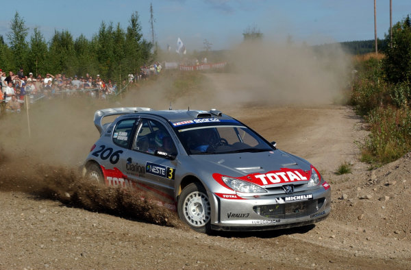 2002 World Rally Championship.Neste Rally Finland, Jyvaskyla Finland, August 8-11th.Harri Rovanpera on stage 1.Photo: Ralph Hardwick/LAT
