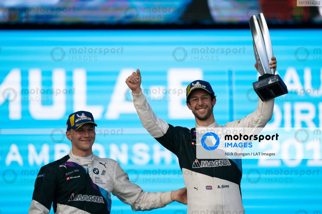Maximilian Günther (DEU), BMW I Andretti Motorsports and Alexander Sims (GBR) BMW I Andretti Motorsports on the podium