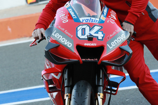 Bike of Andrea Dovizioso, Ducati Team.
