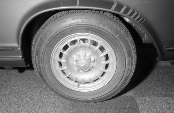 A Mercedes Benz designed alloy wheel.