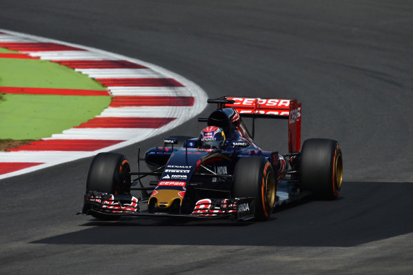 Max Verstappen (NED) Scuderia Toro Rosso STR10 at Formula One World Championship, Rd9, British Grand Prix, Practice, Silverstone, England, Friday 3 July 2015.