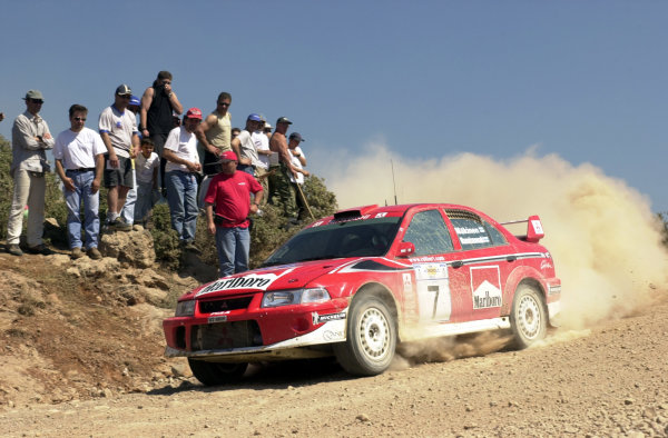 2001 World Rally Championship.Acropolis Rally June 14-17, 2001.Tommi Makinen on stage 7.Photo: Ralph Hardwick/LAT