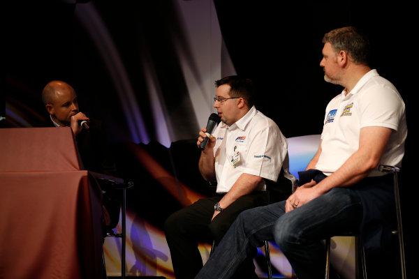 Autosport International Show NEC, Birmingham.  Sunday 12 January 2014. Richard Poulter talks. World Copyright:Sam Bloxham/LAT Photographic ref: Digital Image _SBL2680