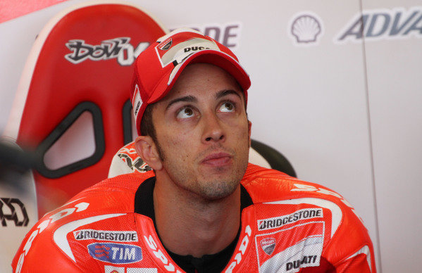 British Grand Prix.  Silverstone, England. 30th August - 1st September 2013.  Andrea Dovizioso, Ducati.  Ref: IMG_0135a. World copyright: Kevin Wood/LAT Photographic